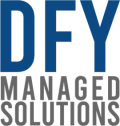 DFY Managed Solutions Logo Blue